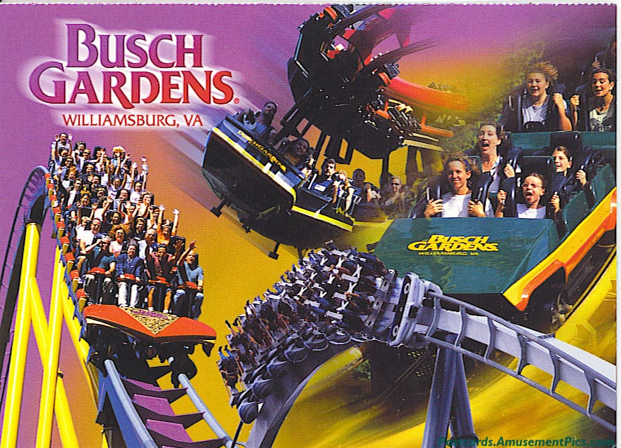 Busch Gardens Williamsburg Postcards